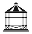 structure gazebo icon simple style vector image vector image