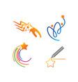 success star logo design template set vector image vector image