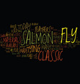 the classic samon fly text background word cloud vector image vector image