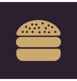 The hamburger icon Sandwich and fast food symbol vector image