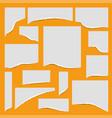 torn edges paper set vector image