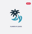 two color flower leaves icon from nature vector image vector image