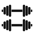 Two dumbbells icon simple style vector image vector image