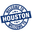 welcome to houston blue stamp vector image vector image