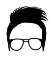 avatar human head with moder haircut vector image