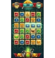 Jungle shamans GUI playing field vector image