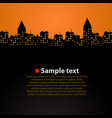 city skyline sunset simple and beautiful vector image