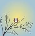 Owl sitting on tree vector image