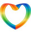 multicolored heart vector image