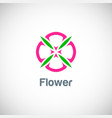 abstract flower beauty logo vector image