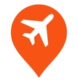 Airport Map Marker Icon vector image
