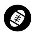 american football ball icon design vector image