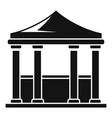 architecture gazebo icon simple style vector image vector image