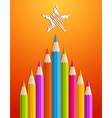 Art pencils Christmas tree vector image vector image