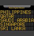 asia country digital board information vector image vector image