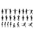 basic alien ufo body poses and postures stick vector image