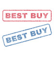 best buy textile stamps vector image vector image