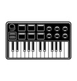 black and white of synthesizer vector image vector image
