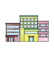 buildings various urban and houses real estate vector image vector image