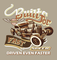 built for fast speed vector image