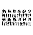 business people silhouette set male vector image vector image