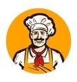 cafe restaurant logo diner or cook chef vector image vector image