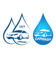car wash symbol set vector image vector image