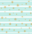 christmas gold snowflake seamless pattern golden vector image