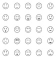 Circle face icons on white background vector image