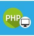 computer web development php vector image vector image