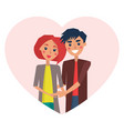 couple in love heart image vector image