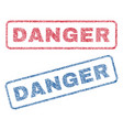 danger textile stamps vector image vector image