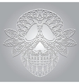 day dead skull vector image vector image