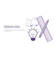 design idea business concept web banner with copy vector image vector image