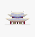 doodle flat pagoda in vector image vector image