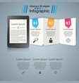 ebook book reader - business infographic vector image vector image
