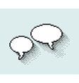 Empty pixel text bubbles vector image vector image