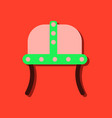 flat icon design collection ancient helmet in vector image vector image
