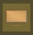 flat shading style icon computer monitor vector image vector image