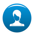 girl avatar icon blue vector image vector image