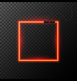 Glowing neon effect shining abstract square or