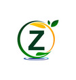 green project solution letter z vector image vector image