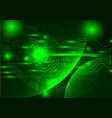 green technology background abstract digital tech vector image