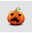 halloween pumpkin in cartoon style scared vector image vector image