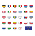 highly detailed flags of The European Union vector image