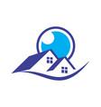home eye vision residence logo icon vector image vector image