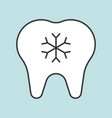 hypersensitive teeth dental related icon filled vector image vector image