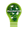 imagination concept in paper vector image