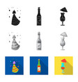 isolated object of party and birthday icon vector image vector image