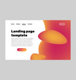 landing page template vector image